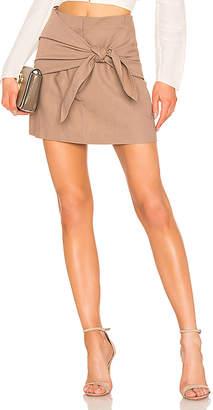 Tibi Removable Tie Mini Skirt