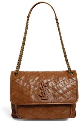 Saint Laurent Leather Niki Shoulder Bag