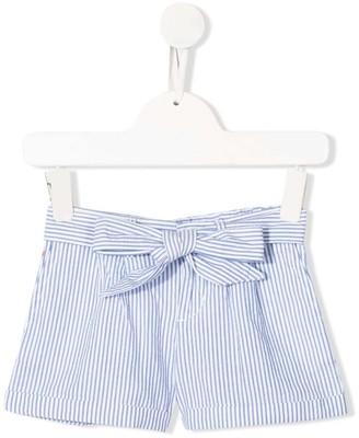 Ralph Lauren Kids Pinstriped Belted Shorts