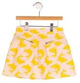 Stella McCartney Girls' Shark Print A-Line Skirt
