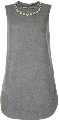 Ermanno Scervino Crystal Embellished Shift Dress