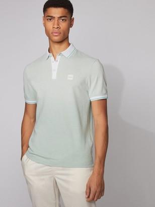 HUGO BOSS Partey Contrast Collar Polo Shirt - Green