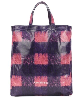 Acne Studios Checked coated cotton tote