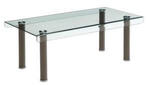 Furniture of America Karnette Glass Top Coffee Table