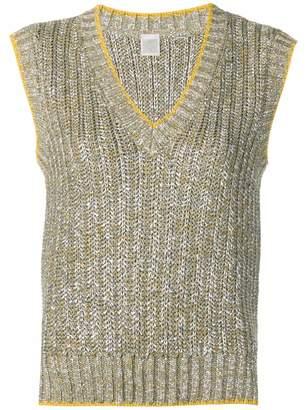 Eleventy metallic knit vest