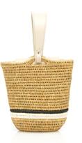 Khokho Zandi Leather-Trimmed Straw Bucket Bag