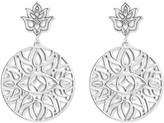 Thomas Sabo Mandala sterling silver and diamond drop earrings