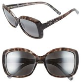 Maui Jim Women's 'Orchid' 56Mm Polarized Sunglasses - Grey Tortoise Stripe/ Grey