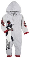 Andy & Evan Infant Boy's Christmas Penguin Hooded Romper