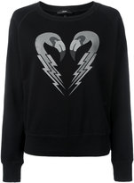 Diesel flamingo print sweatshirt - women - Cotton - M