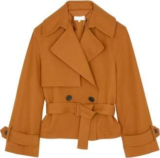 Vince Belted Linen And Cotton-blend Jacket