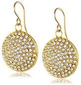 Devon Leigh Diamond Illusion Coin Crystal Drop Earrings