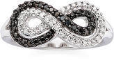 Black Diamond FINE JEWELRY 1/5 CT. T.W. White & Color-Enhanced Infinity Ring