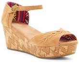 Toms Brown Festival Platform Wedge Sandal