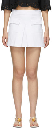RED Valentino White Front Skirt Shorts