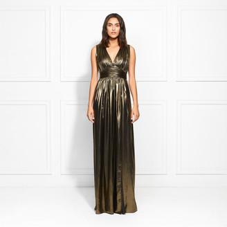 Rachel Zoe Nicole Gold Lame Gown