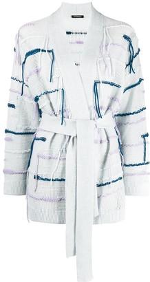 Canessa Fringe-Trimmed Belted Cardi-Coat