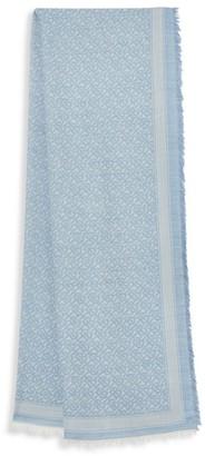 Burberry TB Monogram Wool & Silk Scarf