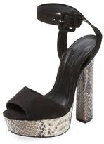 Schutz Amatista Nubuck Platform Sandal