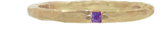 Cathy Waterman Purple Sapphire Stacking Band Ring - Rose Gold