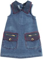 Little Marc Jacobs Denim Effect Cotton Fleece Dress