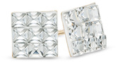 Zales Child's Square Crystal Stud Earrings in 14K Gold