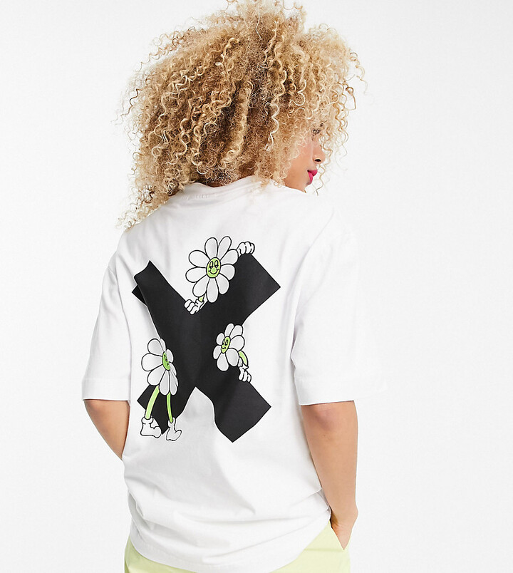 Thumbnail for your product : Collusion Unisex t-shirt with logo X back print in white