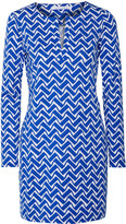 Diane von Furstenberg Reina printed cotton and silk-blend mini dress