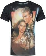 Star Wars Official Attack Of The Clones Sublimation Men's T-Shirt (S)