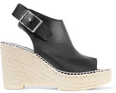 McQ Leather Wedge Sandals
