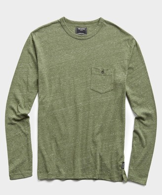 Todd Snyder Long Sleeve Heather Tee in Tuscan Olive