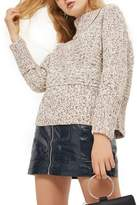 Topshop Tweedy Envelope Neck Sweater