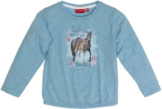 Salt&Pepper Salt and Pepper Girl's Longsleeve Horses uni Photo T-Shirt