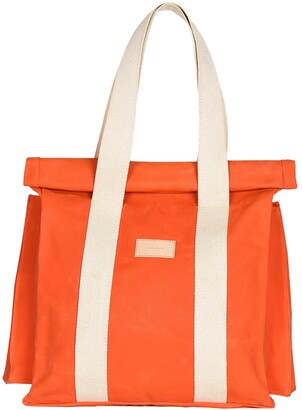 LaneFortyfive - The Basto Tote Bag - Orange Waxed Canvas
