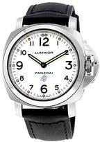 Panerai Men's Luminor 44mm Black Leather Band Steel Case Mechanical Dial Analog Watch PAM00630