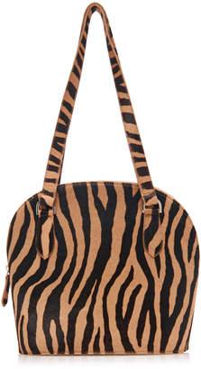 Maryam Nassir Zadeh Pisa Zebra Print Leather Bag