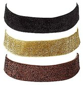 Charlotte Russe Plus Size Glittery Choker Necklaces - 3 Pack