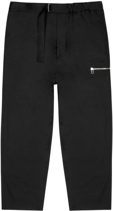 Oamc Black tapered wool trousers