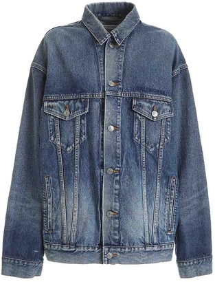 Balenciaga Embroidered Denim Oversize Jacket