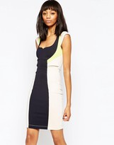 French Connection Monreo Stretch Color Block Dress