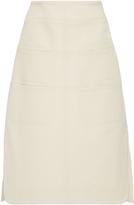 Carven Knee Length Slit Skirt