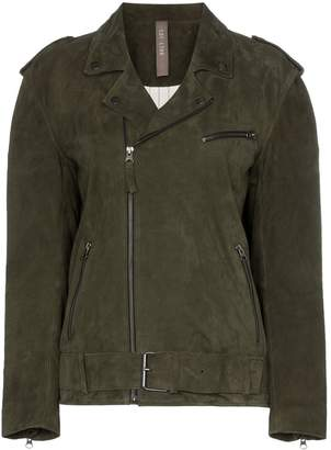Lot Lthr Ella suede biker jacket