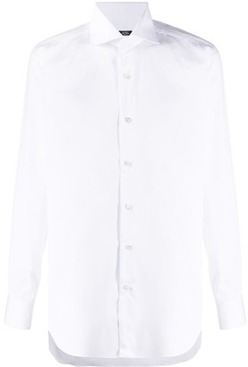 Barba Plain Spread-Collar Shirt