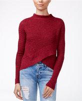 Free People Mock-Neck Boho Wrap Sweater