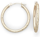 JCPenney FINE JEWELRY 10K Gold Diamond-Cut Hoop Earrings