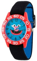 Sesame Street Boys' Red Plastic Time Teacher Watch - Black