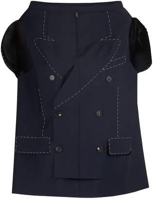 Maison Margiela Long mohair and wool jacket