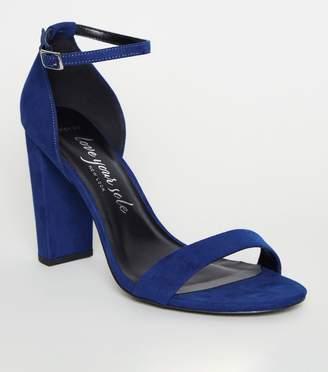 New Look Wide Fit Bright Suedette Block Heels