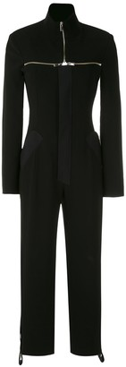 Gloria Coelho Detachable Collar Jumpsuit