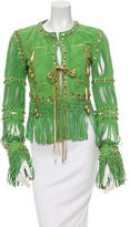 Roberto Cavalli Embellished Suede Jacket
